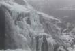 Cascadas de Sotillo nevadas
