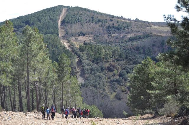 Este camino por el monte marca o indica el límite entre Zamora y Portugal